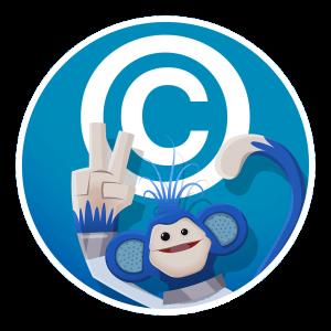 Busta and copyright symbol